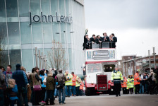 LV=Cup Winners Exeter Chiefs parade through Exeter City Centre