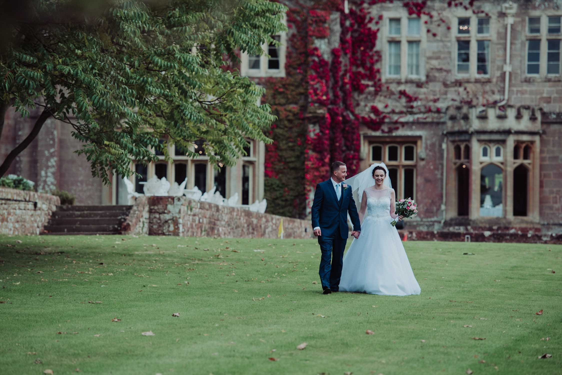 Somerset wedding photographer capturing intimate bride & groom shots at Somerset wedding at St Audries Park in Somerset