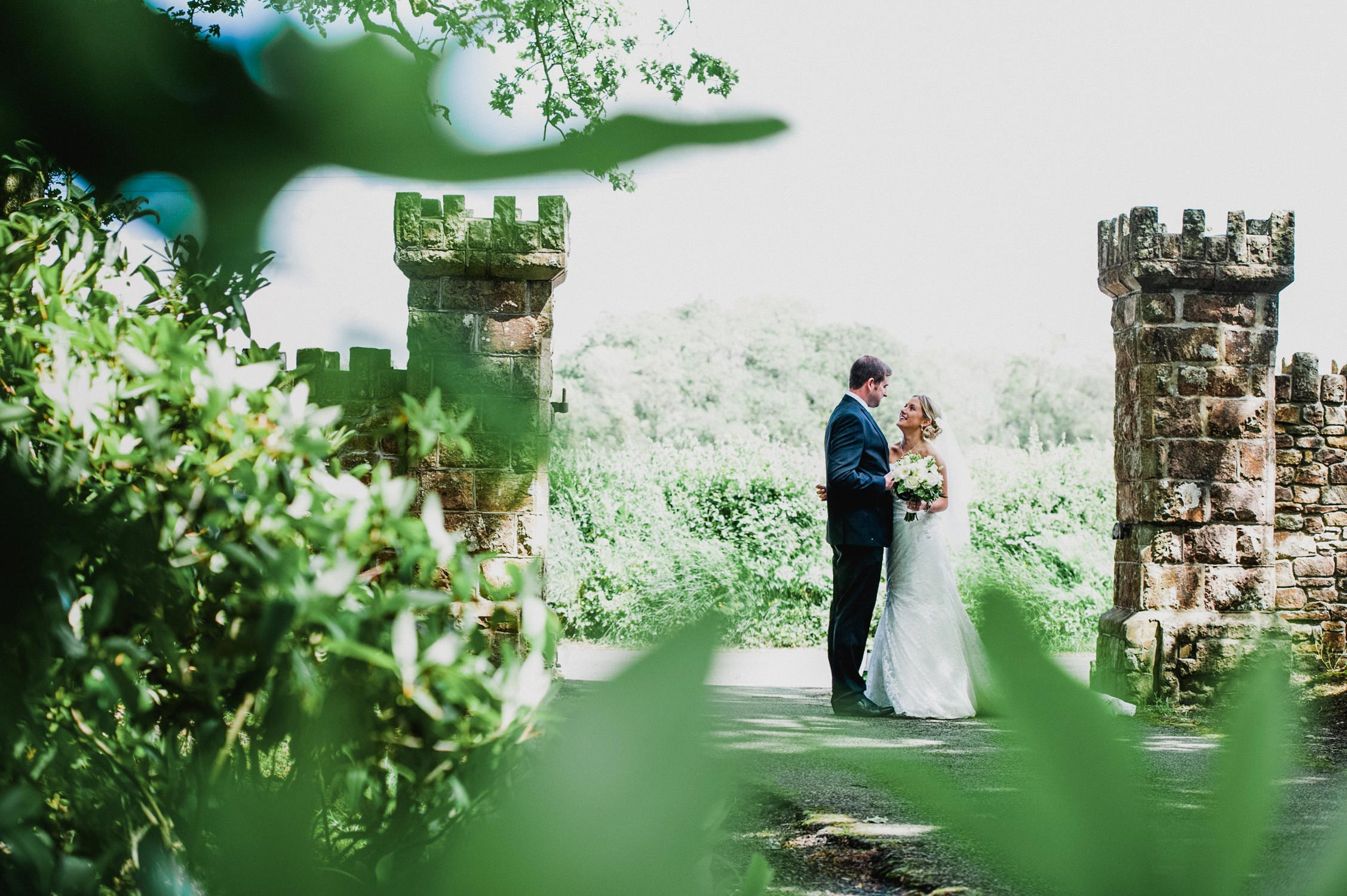 bride and groom in the country side, devon wedding photographer