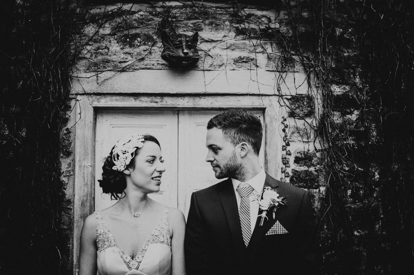 kilver court wedding in somerset, somerset wedding photographer, bride and groom looking at each other
