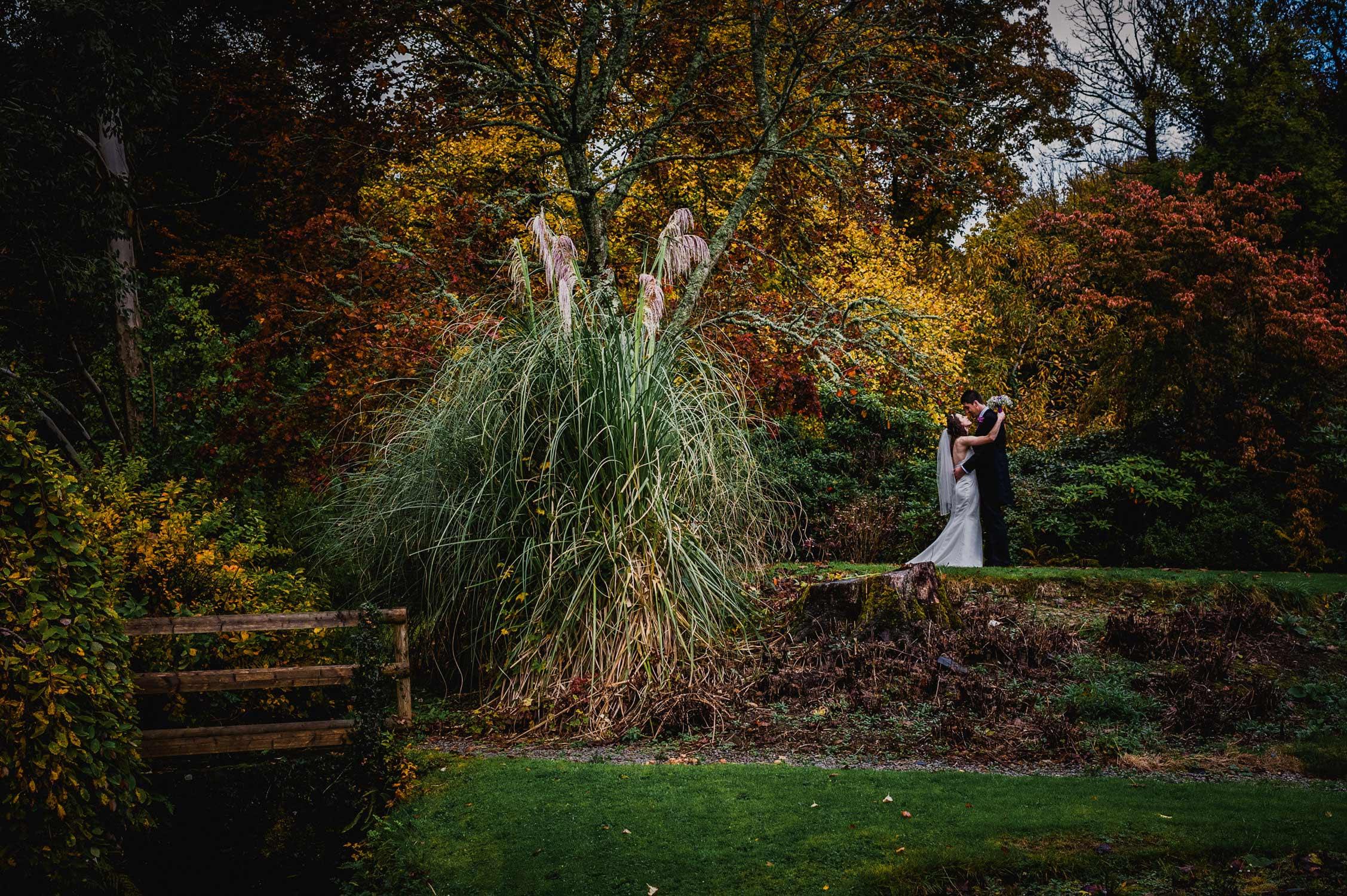 lewtrenchard wedding photographer devon, bride and groom at lewtrenchard manor in devon