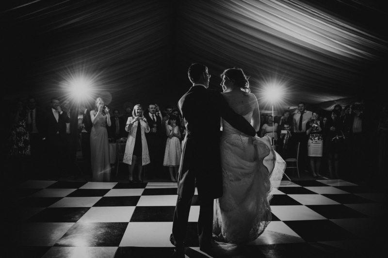 Escot House wedding in Devon, Devon Wedding Photographer, bride and groom enjoying the first dance